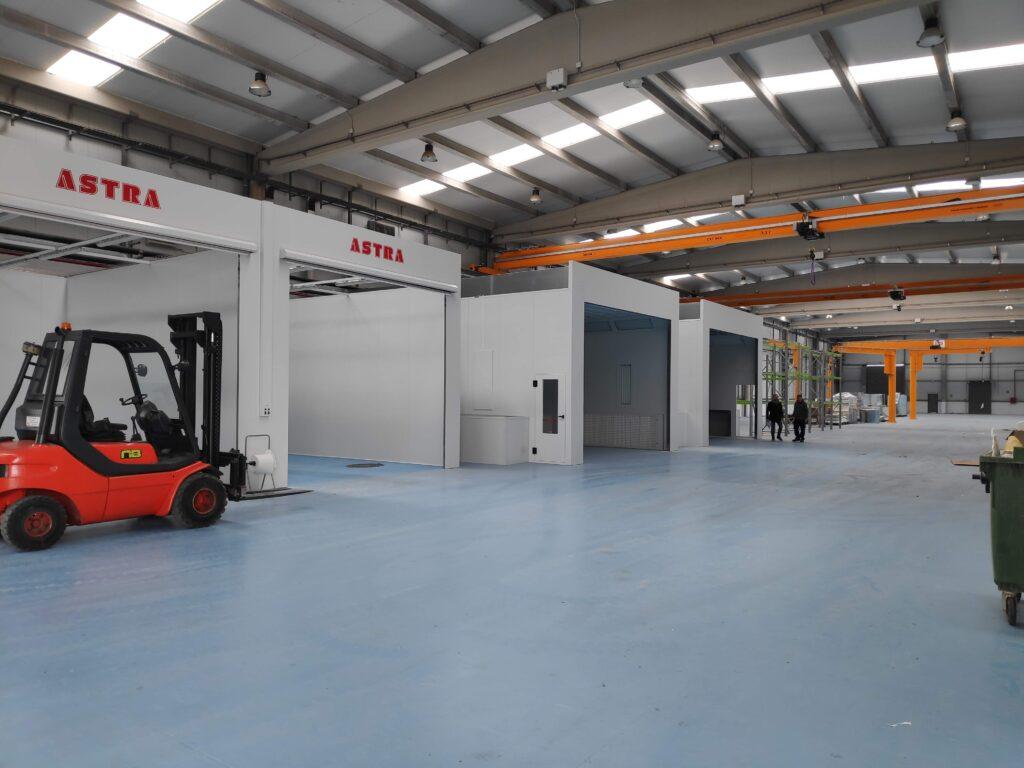Zona de fabricació de maquinària agrícola