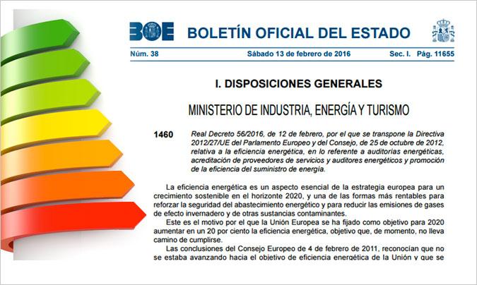 4 anys de l'entrada en vigor del Reial Decret 56/2016, d'auditories energètiques per a grans empreses